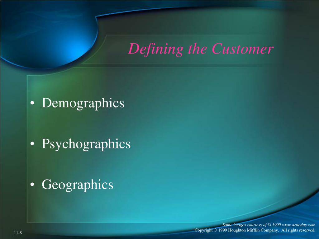 Defining the Customer