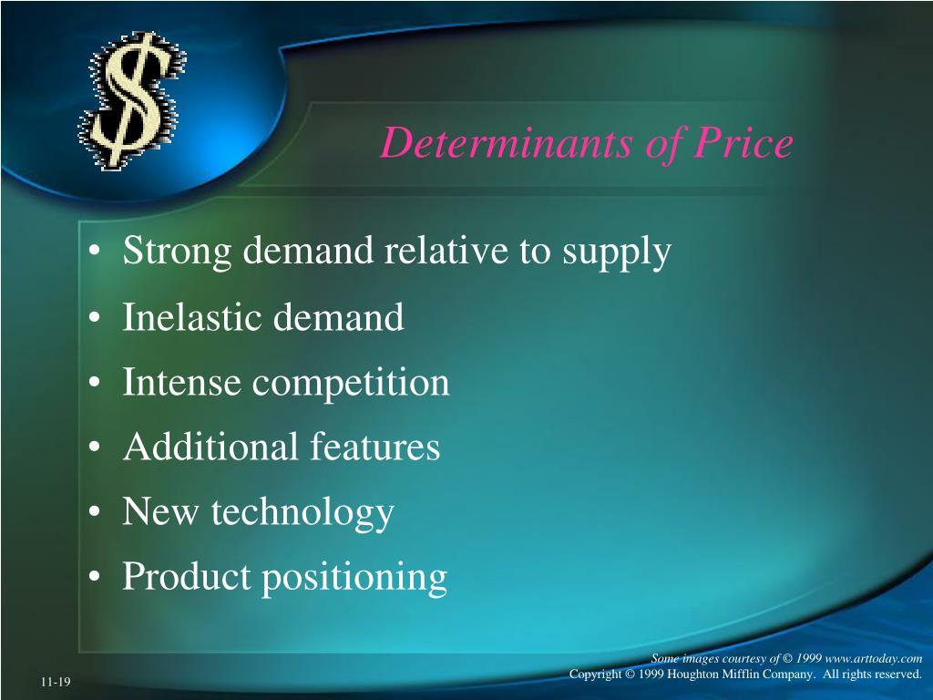 Determinants of Price