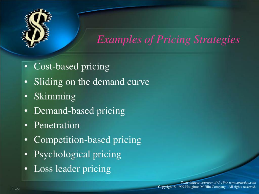 Examples of Pricing Strategies