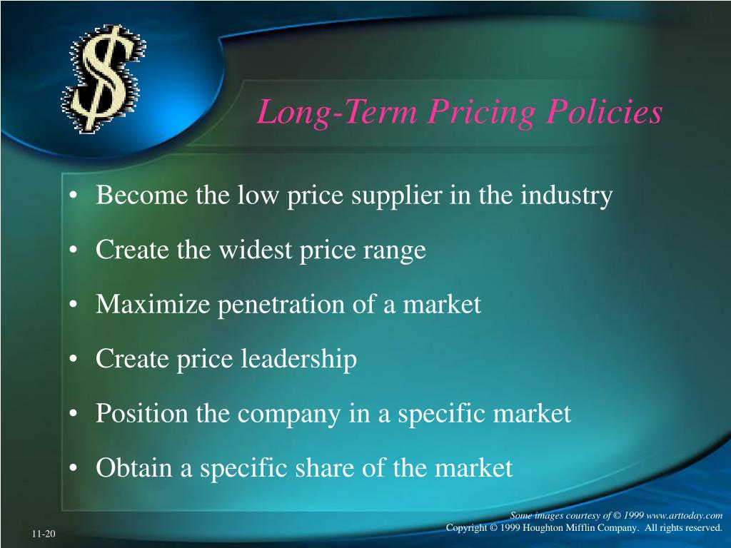 Long-Term Pricing Policies