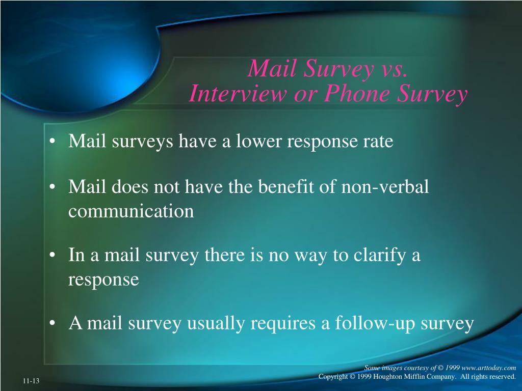 Mail Survey vs.