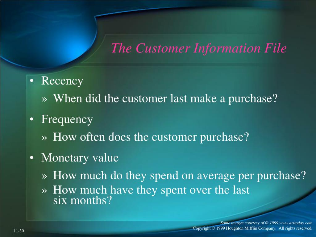The Customer Information File