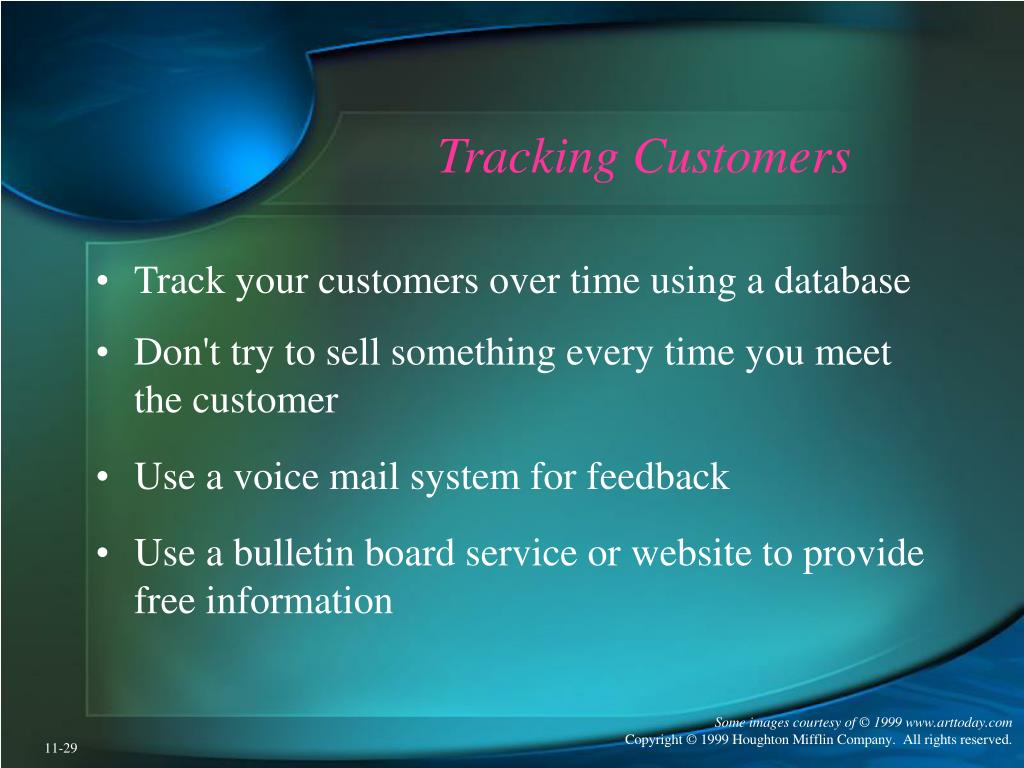 Tracking Customers