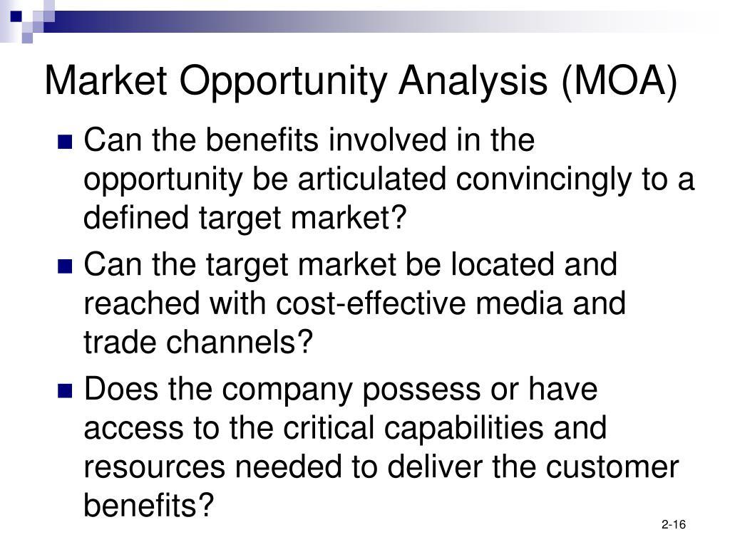 Market Opportunity Analysis (MOA)