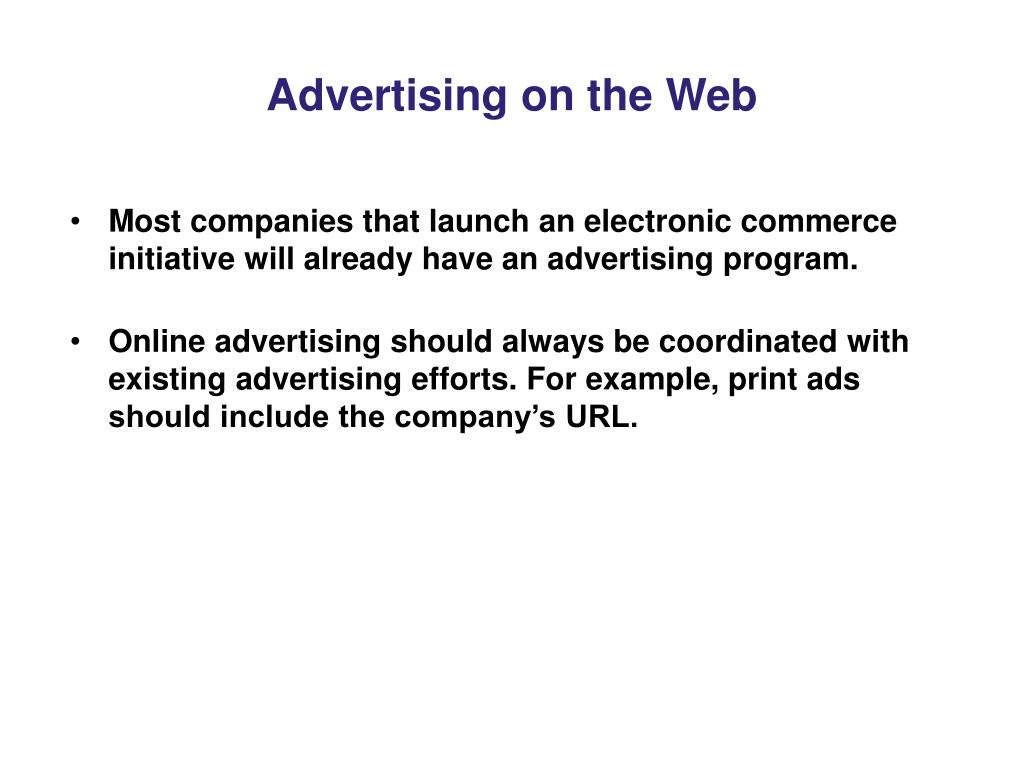 Advertising on the Web