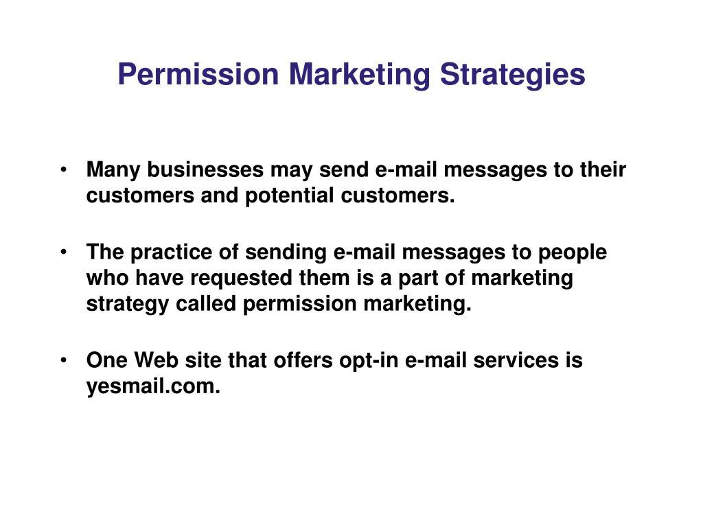 Permission Marketing Strategies