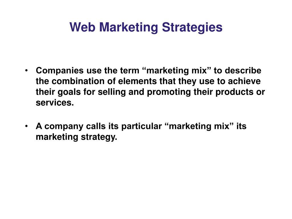 Web Marketing Strategies