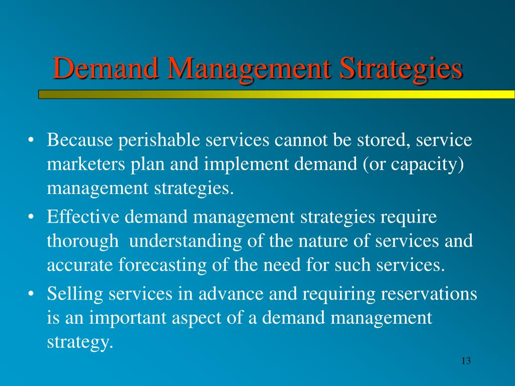 Demand Management Strategies