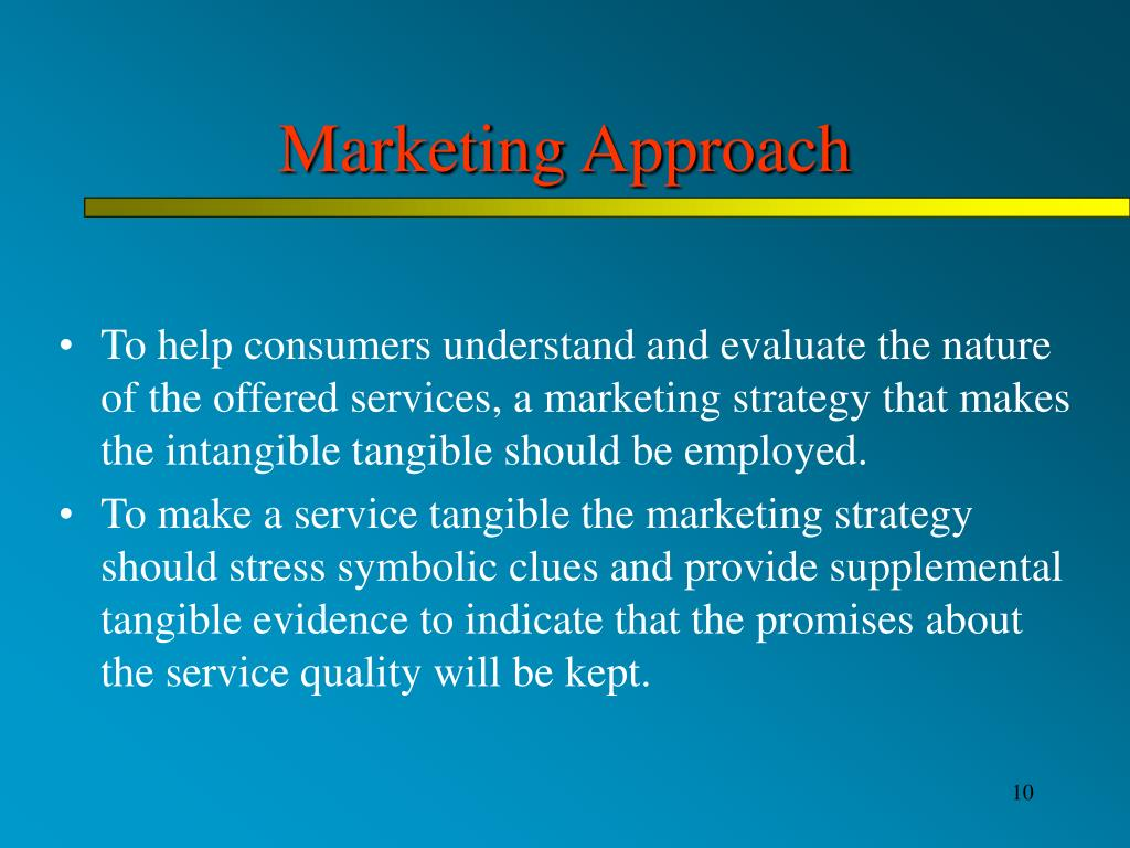 Marketing Approach