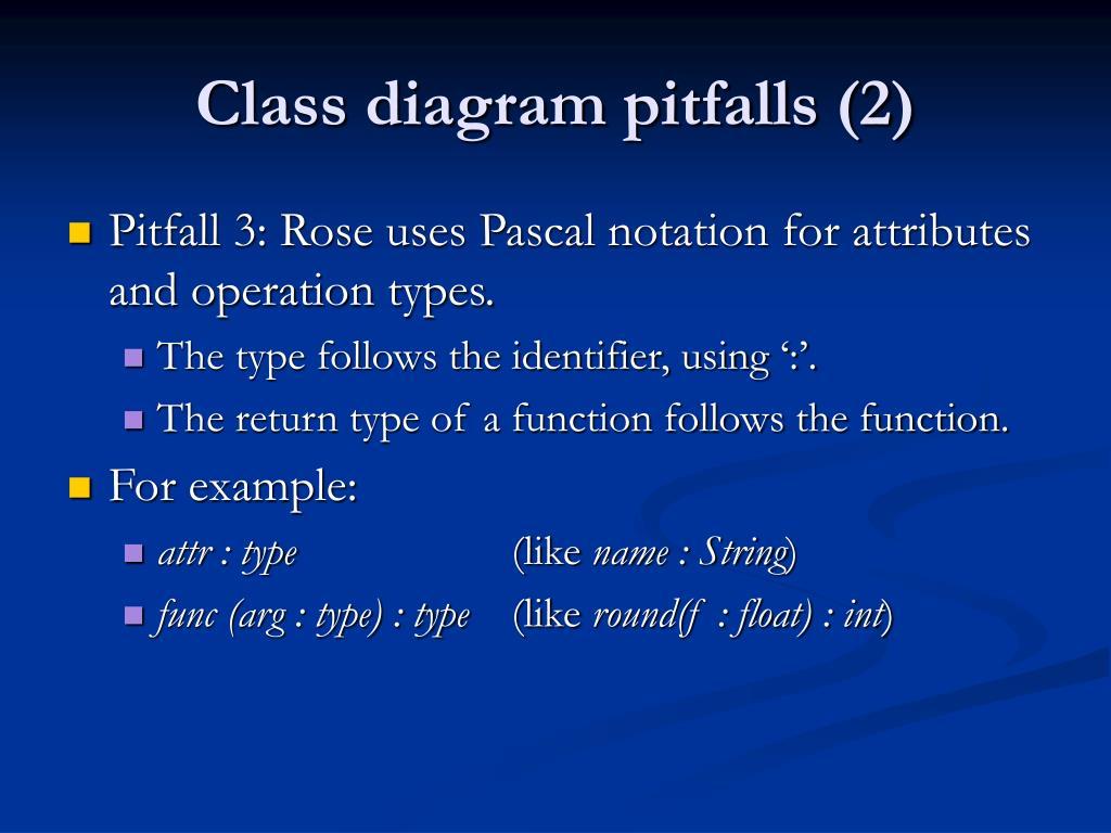 Class diagram pitfalls (2)