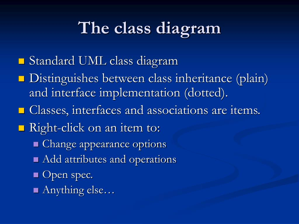 The class diagram