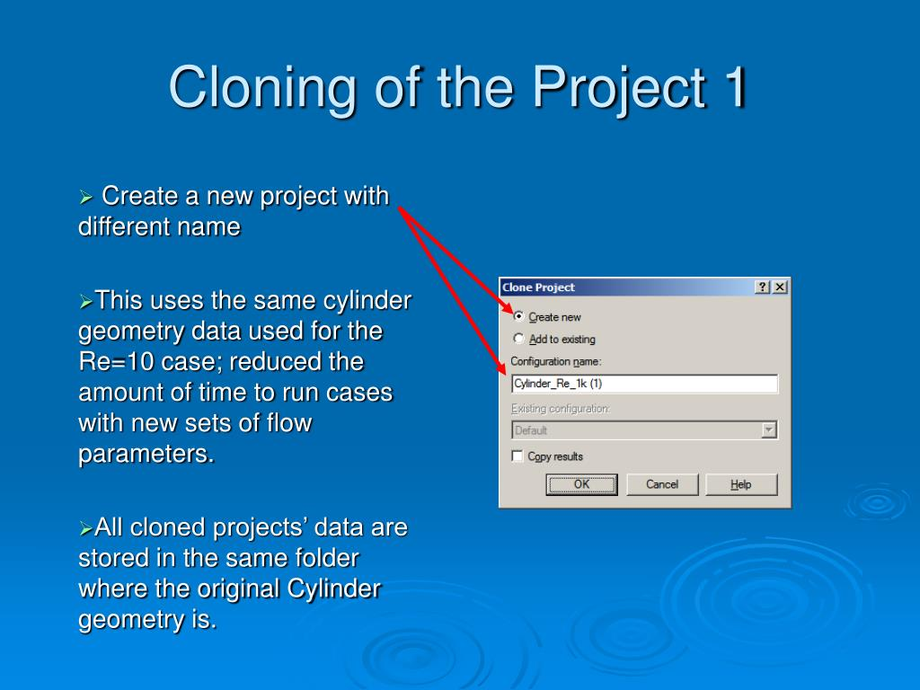 Cloning of the Project 1