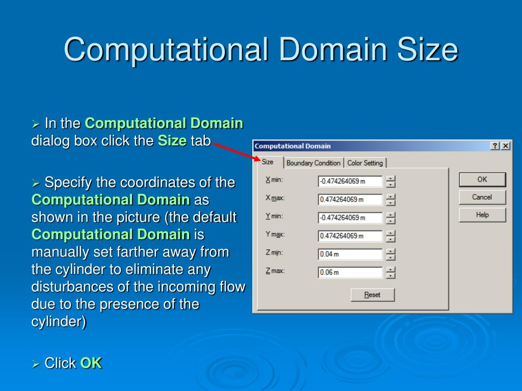 Computational Domain Size