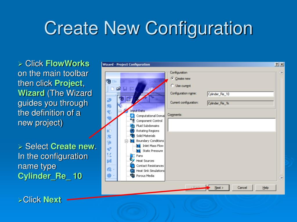 Create New Configuration