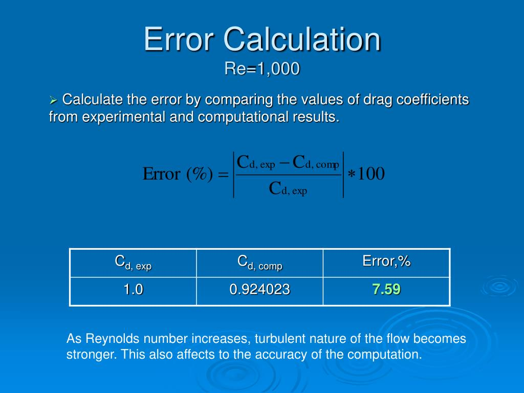 Error Calculation