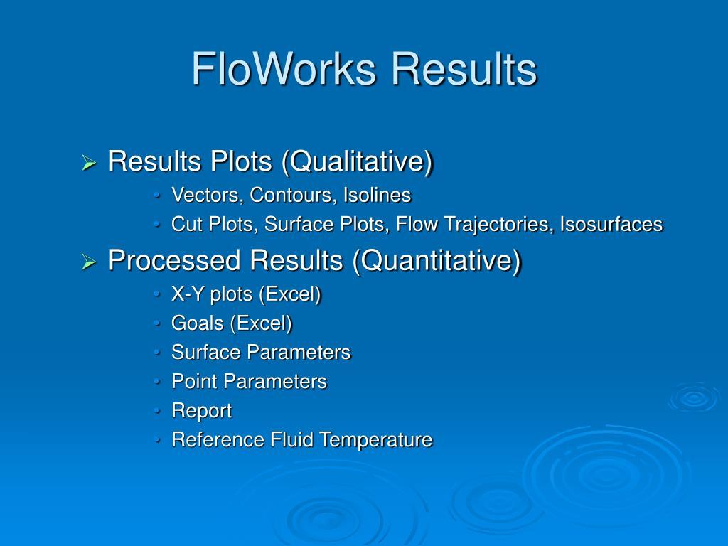 FloWorks Results