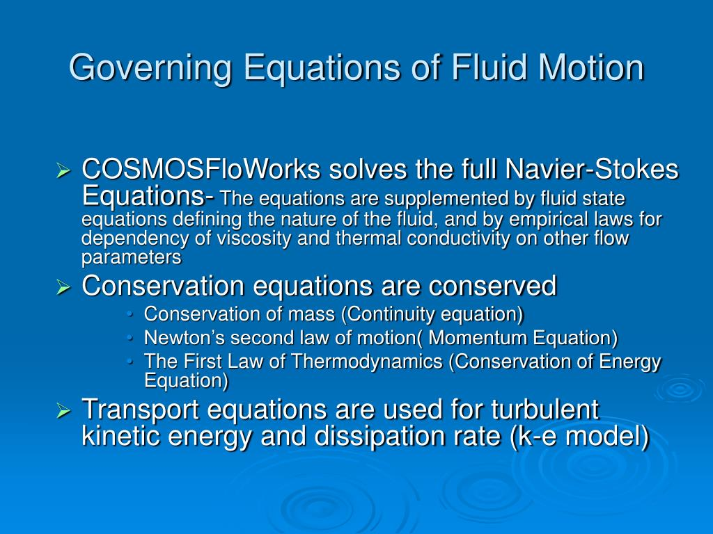 Governing Equations of Fluid Motion