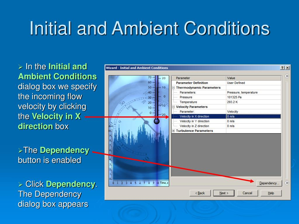 Initial and Ambient Conditions