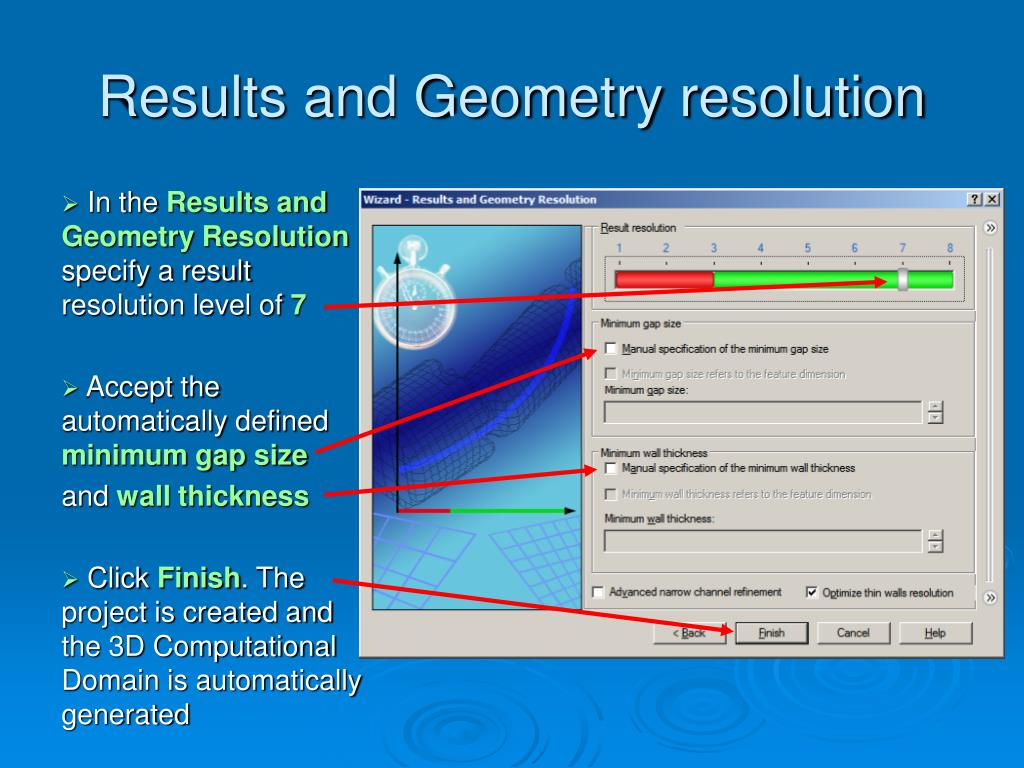 Results and Geometry resolution