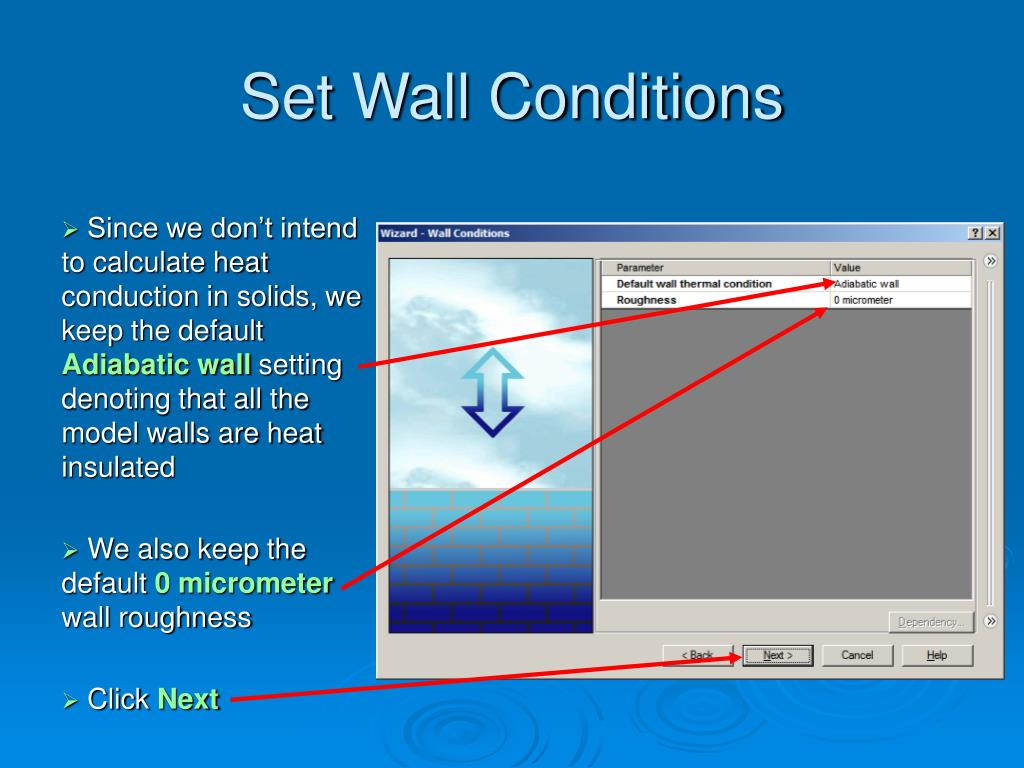 Set Wall Conditions