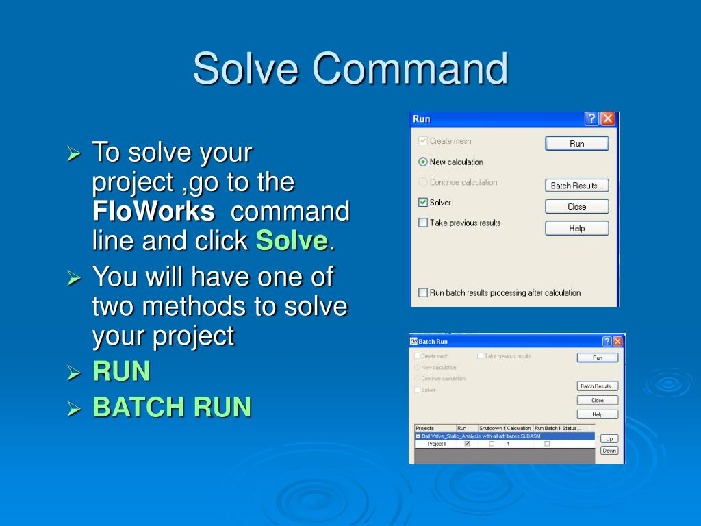 Solve Command