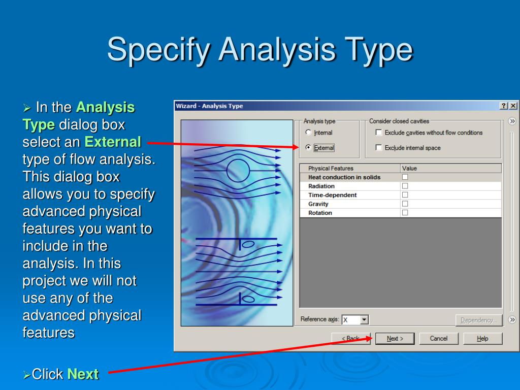 Specify Analysis Type