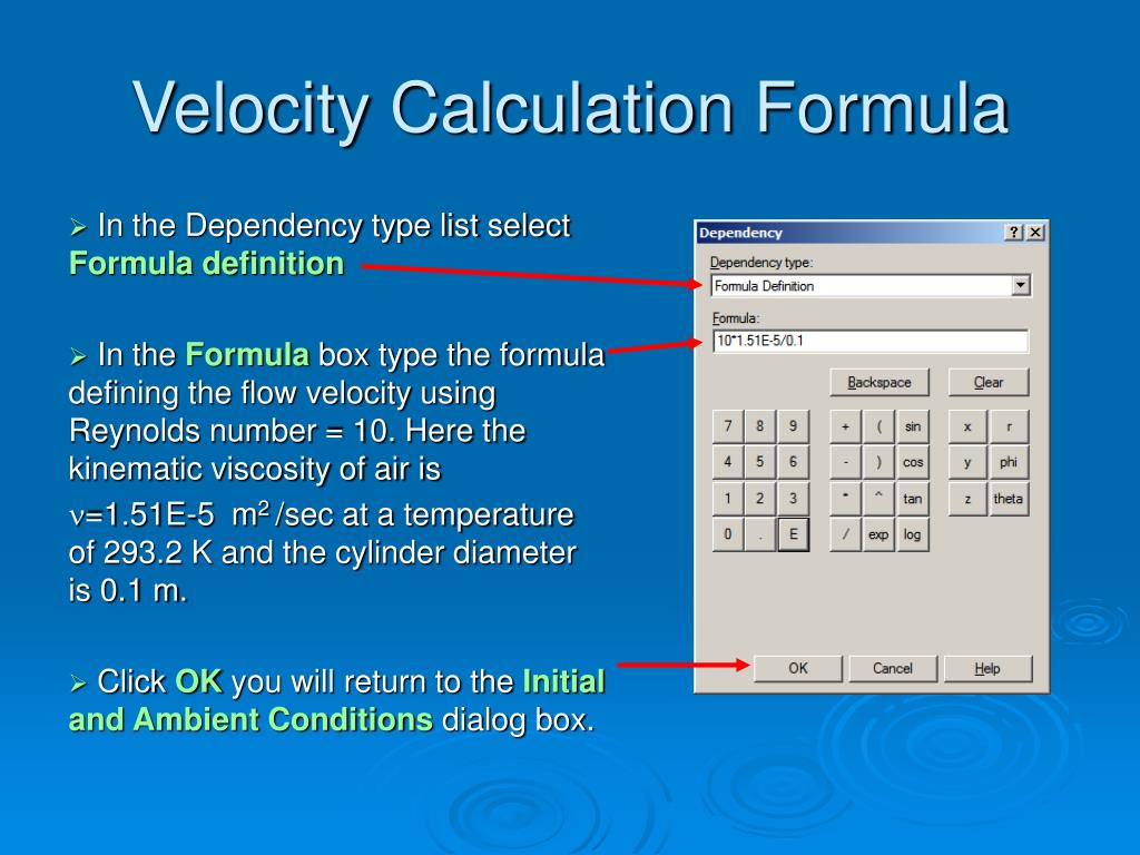 Velocity Calculation Formula