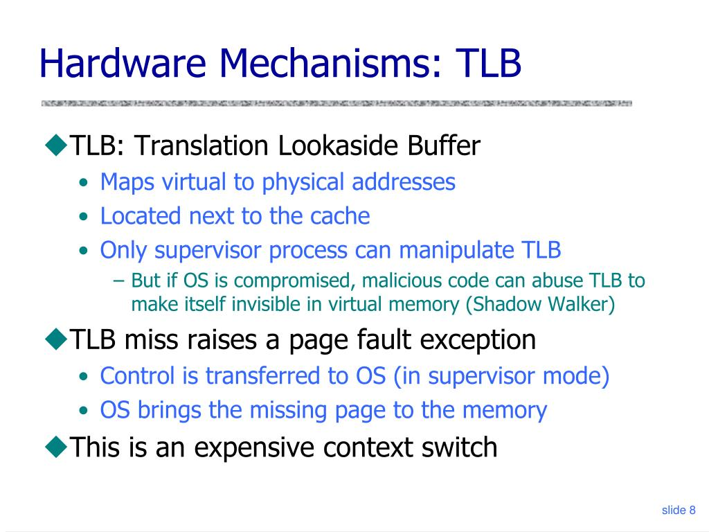 Hardware Mechanisms: TLB