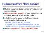 modern hardware meets security