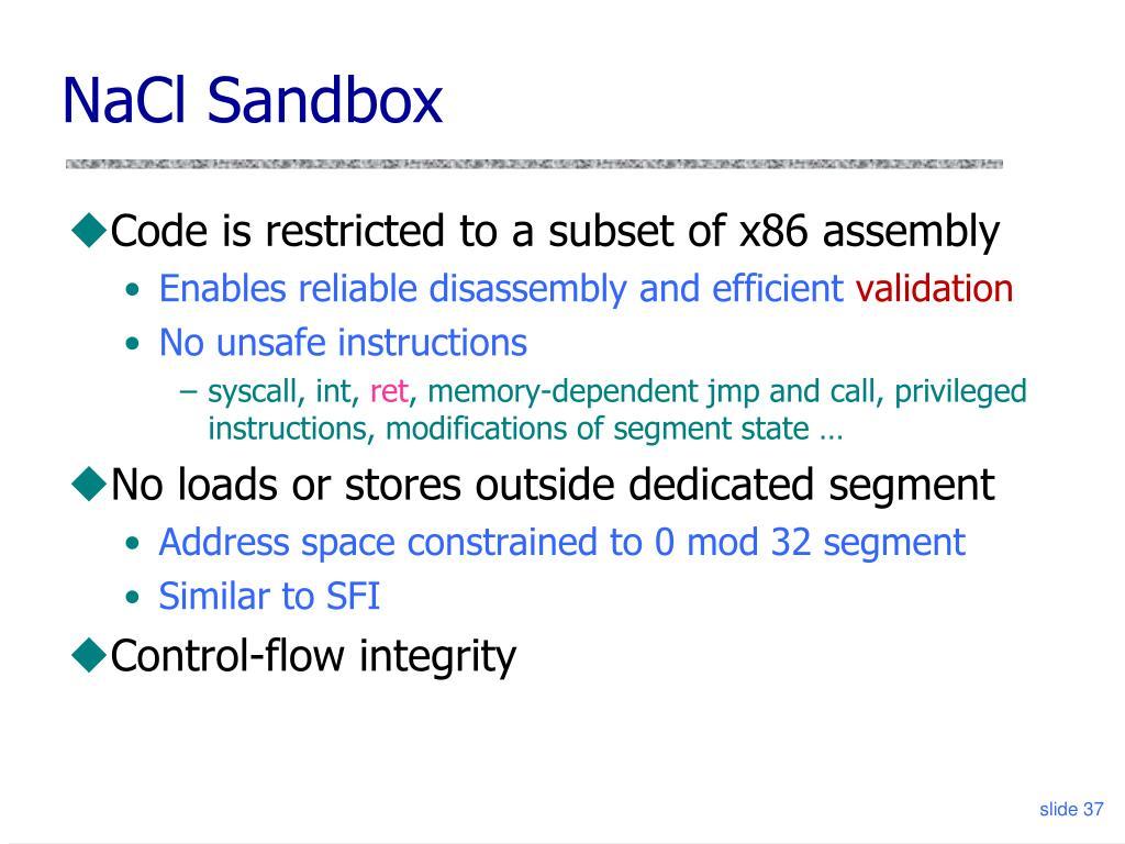 NaCl Sandbox