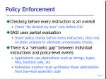 policy enforcement
