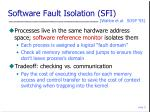 software fault isolation sfi
