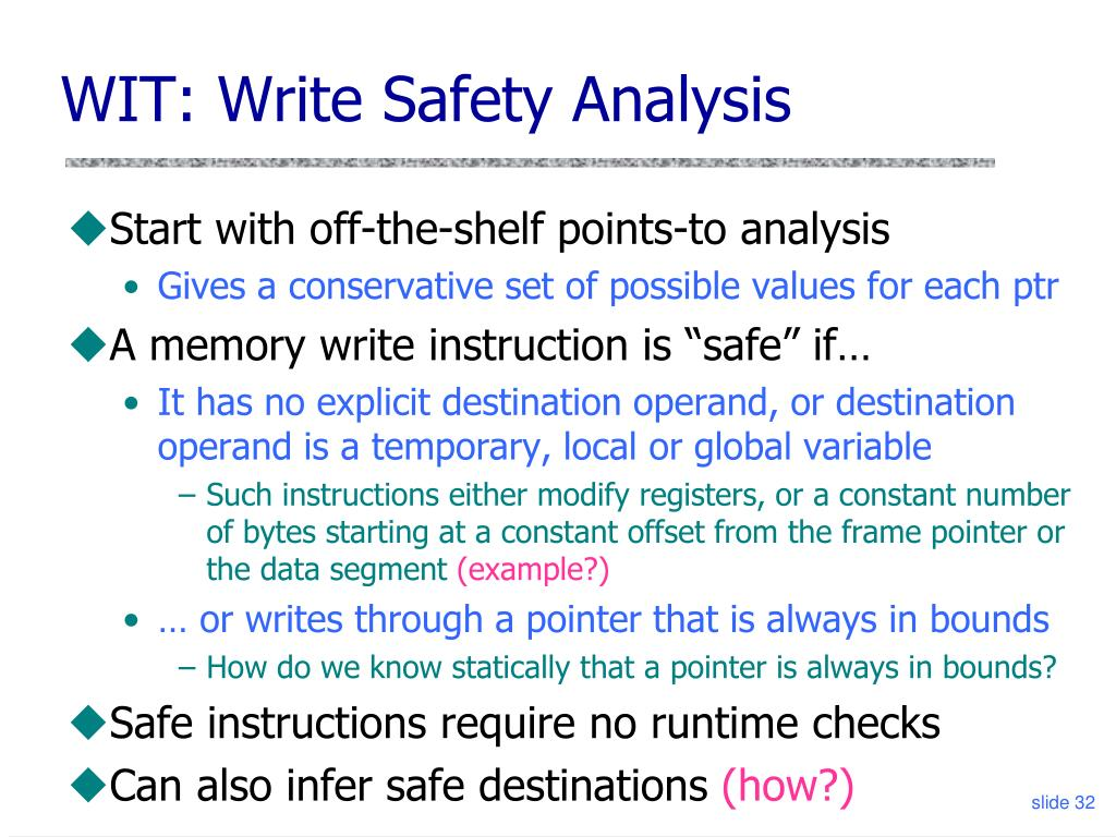 WIT: Write Safety Analysis