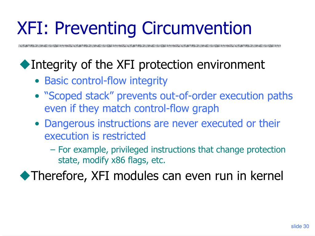 XFI: Preventing Circumvention