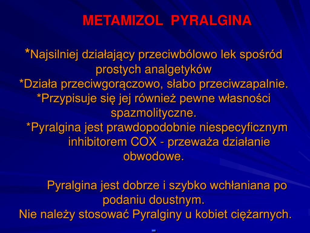 METAMIZOL  PYRALGINA