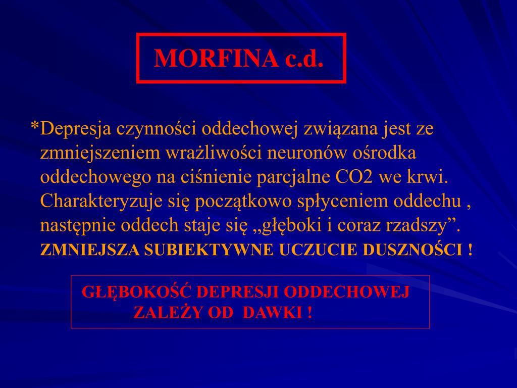 MORFINA c.d.