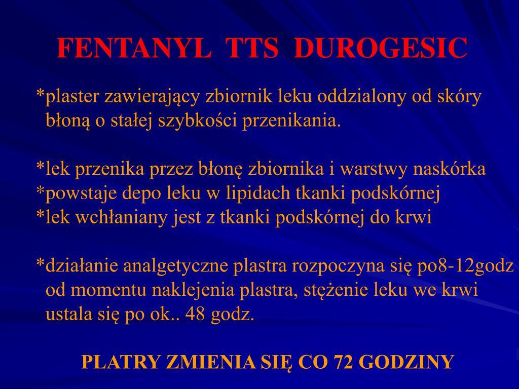 FENTANYL  TTS  DUROGESIC