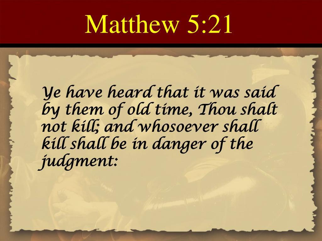 Matthew 5:21
