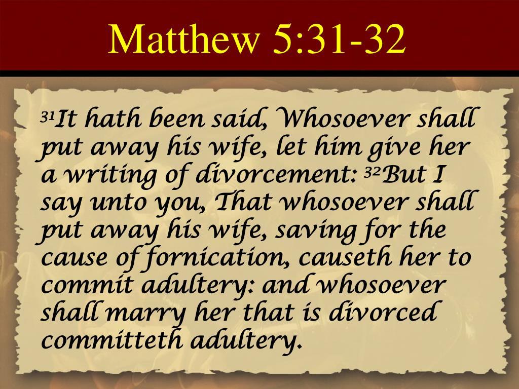 Matthew 5:31-32