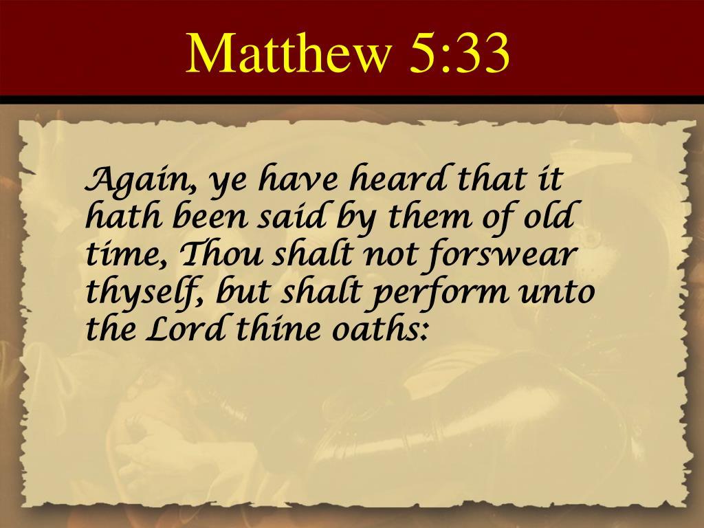 Matthew 5:33