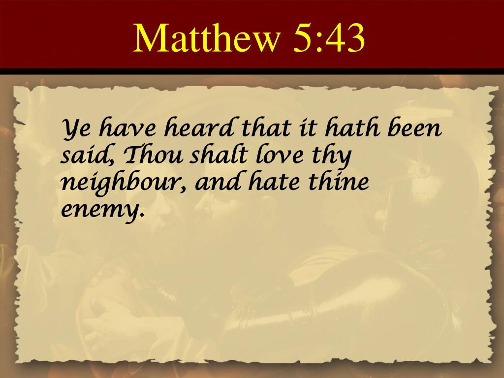 Matthew 5:43