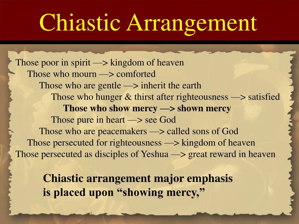 Chiastic Arrangement