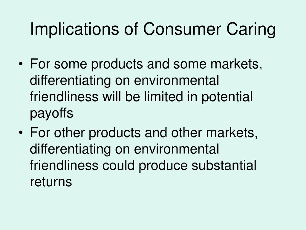 Implications of Consumer Caring