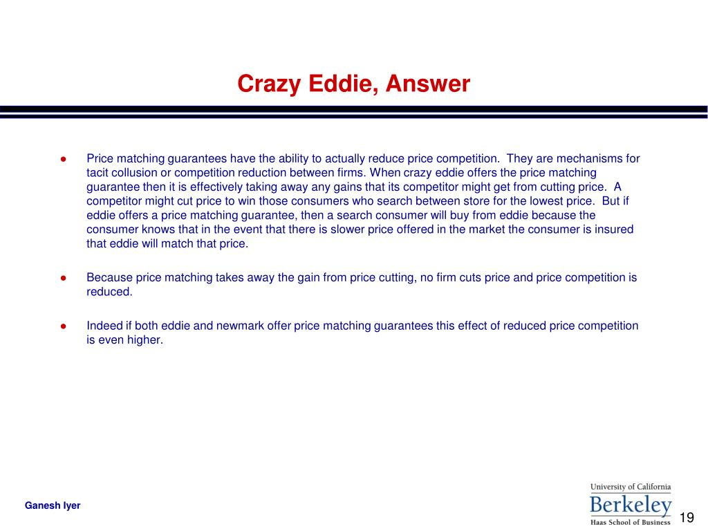 Crazy Eddie, Answer