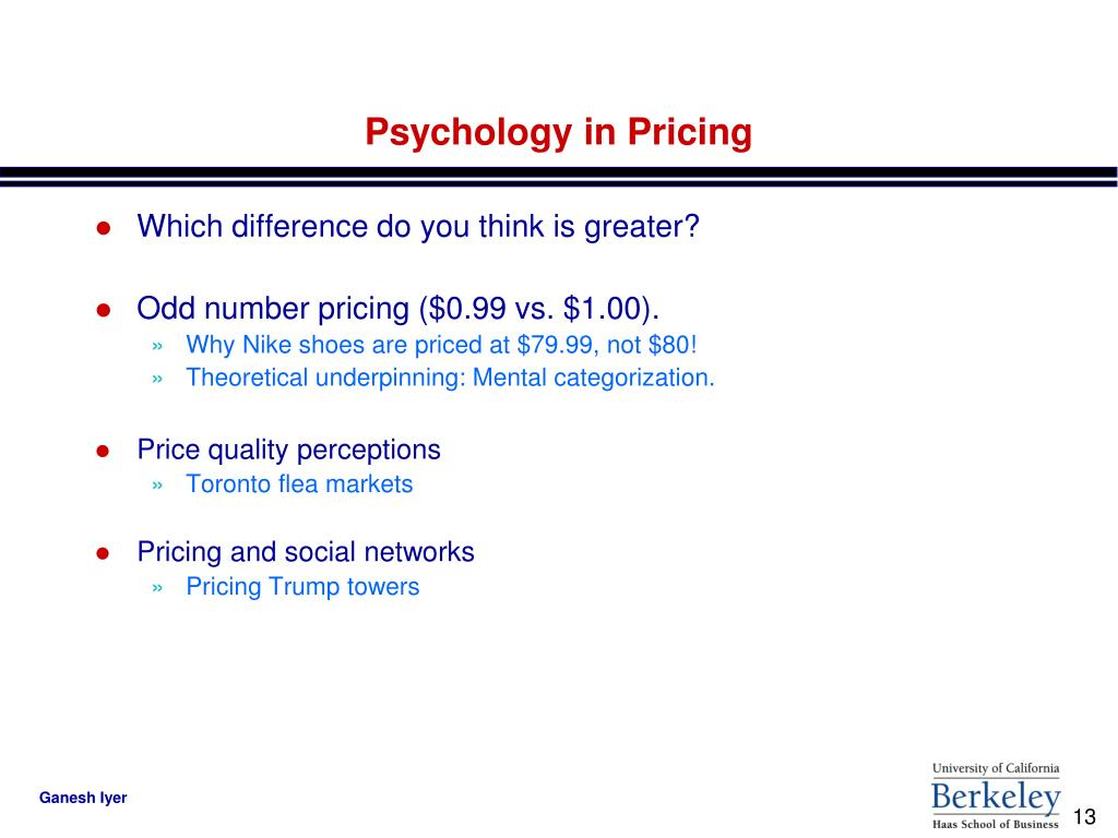 Psychology in Pricing