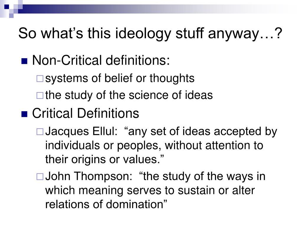 ideological criticism Exegetical methodology: ideological criticism using the methodology of ideological criticism, analyze your chosen text each member of the group should record notes on your group's responses to the questions below, as well as additional.
