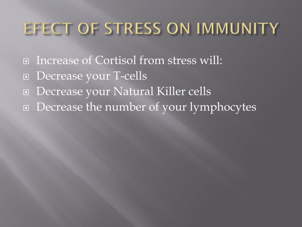 EFECT OF STRESS ON IMMUNITY