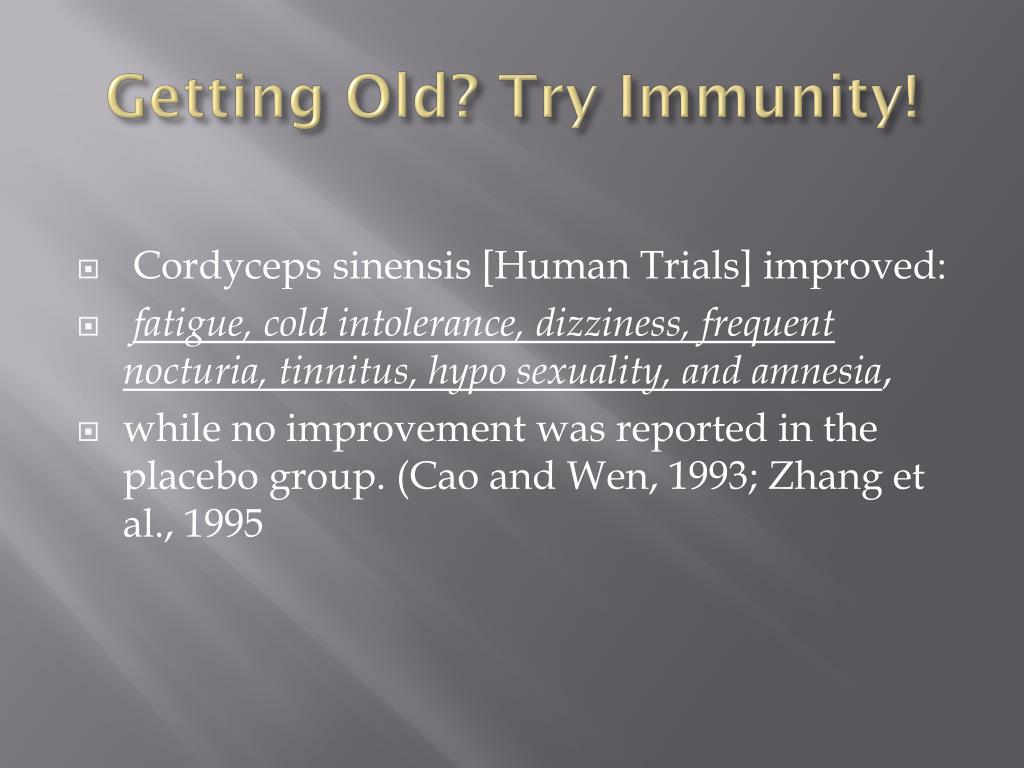 Getting Old? Try Immunity!