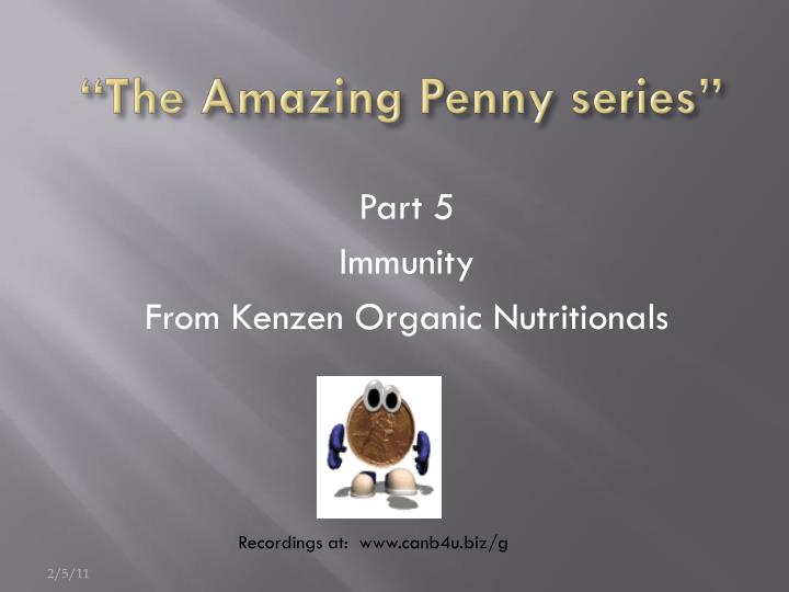 The amazing penny series