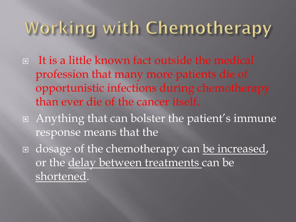 Working with Chemotherapy